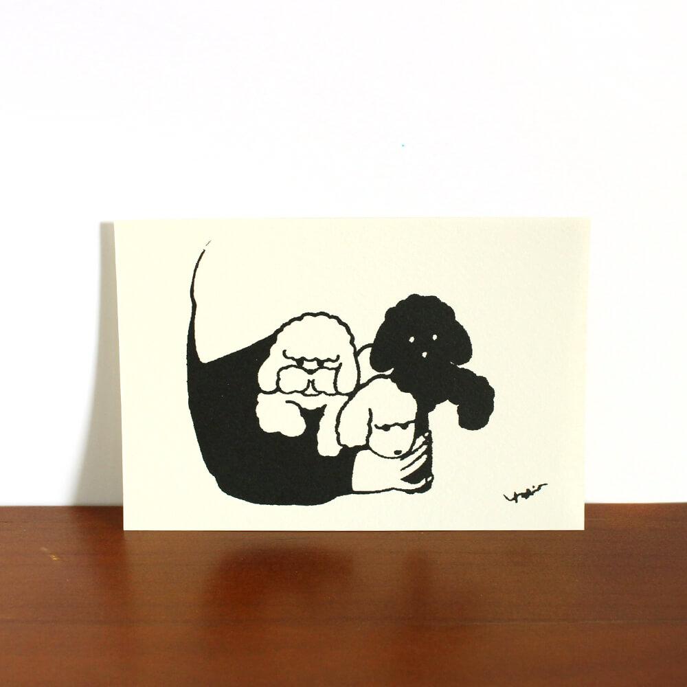 ポストカード(3匹のいぬ)